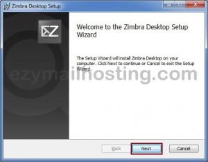 Zimbra-desktop-setup