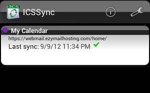 Complete setting ICSsync for Android