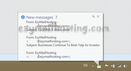 zimbra webmail notify by zebra